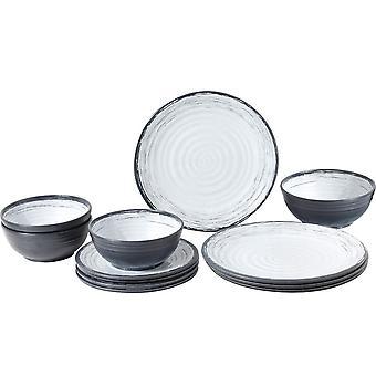 Granada 12 Piece Midday Melamine Dinnerware Set