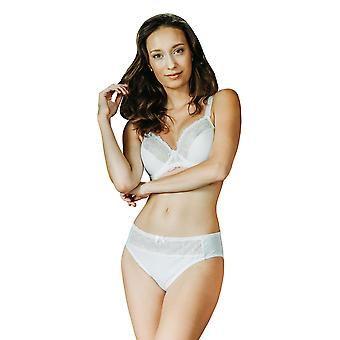 Guy de France 51617-5 Women's Ivory Motif Non-Padded Underwired Cup Bra
