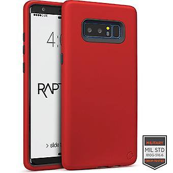 SS Note 8-Rapture rood/donker grijs matte finish