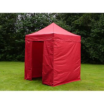 Pop up gazebo FleXtents PRO 2x2 m Red, incl. 4 sidewalls