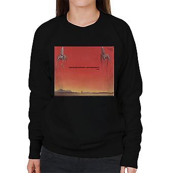 A. P. O. H Salvador Dali frygt for perfektion citat kvinder ' s sweatshirt