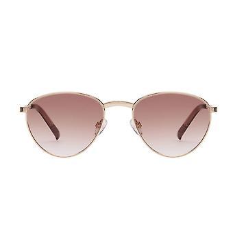 Le Specs Hot Stuff Bright Gold Avaitor Sunglasses