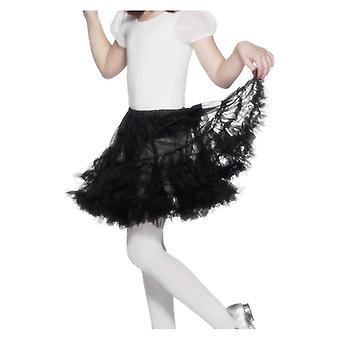 Holky čierna Petticoat maškarné šaty príslušenstvo