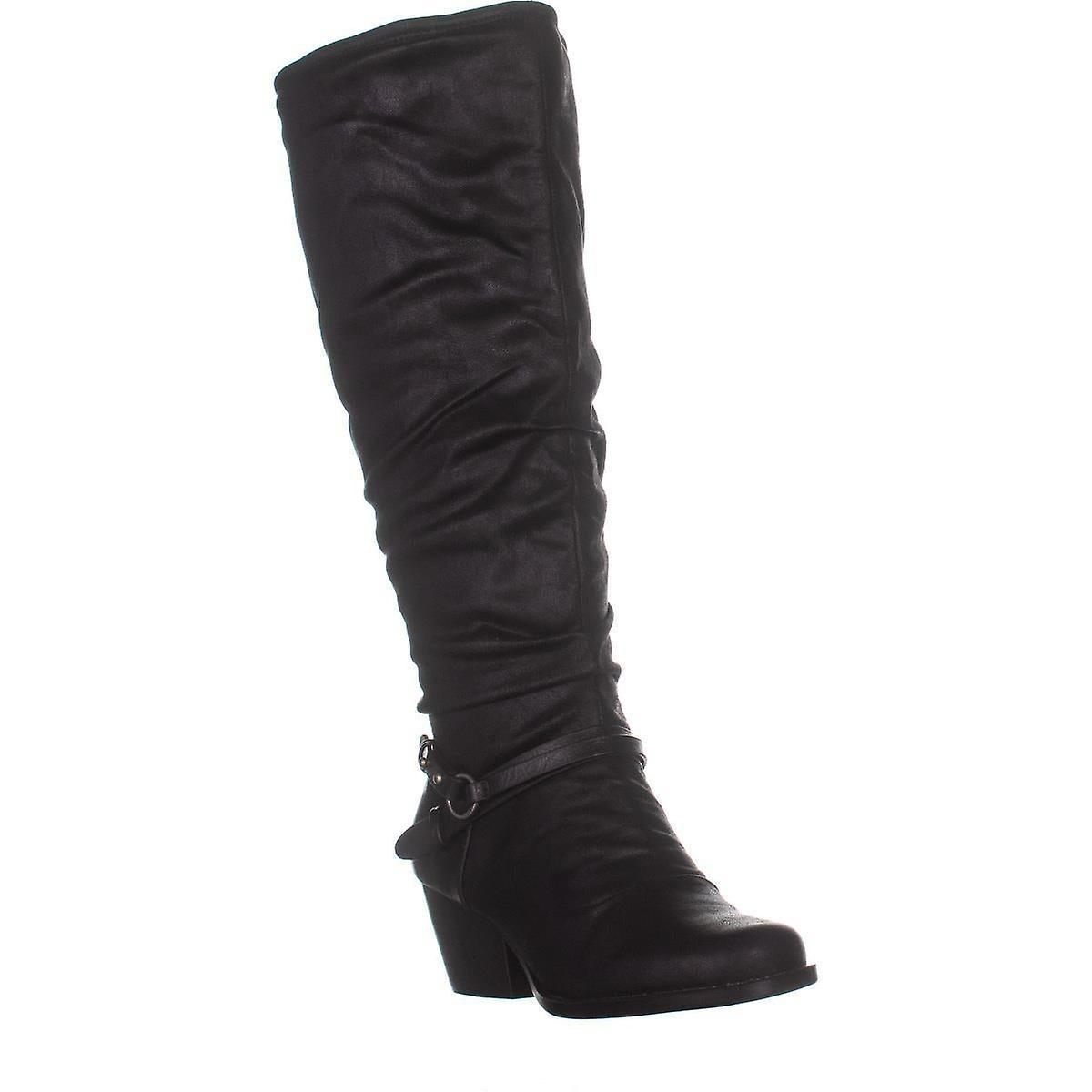 Nagie pułapki Damskie Roz2 Fabric Zamknięte toe Knee High Fashion Boots 7UWun