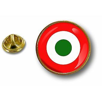 Pine Pine badge PIN-apos; s metal knap flag kakerlak luftvåben italiensk militær