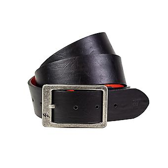 Lowlife Harris Leather Belt in Matt Black