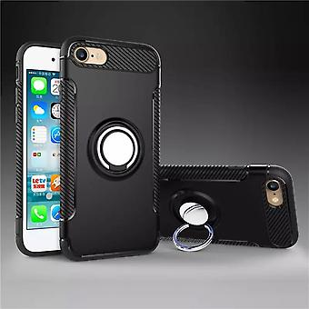 Iphone 6 / 6S hybrid armor shell magnetic case black