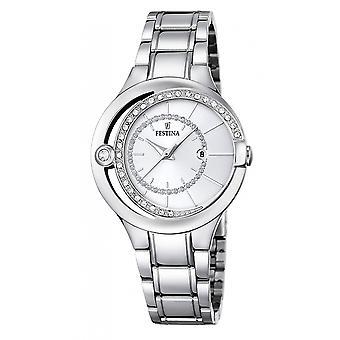 Festina F16947-1 Frauen's Mademoiselle Silber Ton Armbanduhr