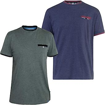 Duke D555 mens Nelly grote Tall King size korte mouw dubbele trim T-shirt tee top