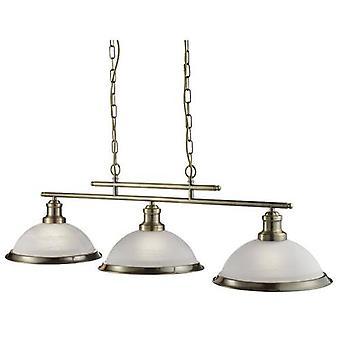 Bistro 3 Light Ceiling Bar Wisiorek z kwaśnymi szklanymi odcieniami