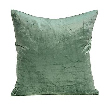 """22"""" x 7"""" x 22"""" Transitional Green Solid Pillow Cover With Poly Insert"""