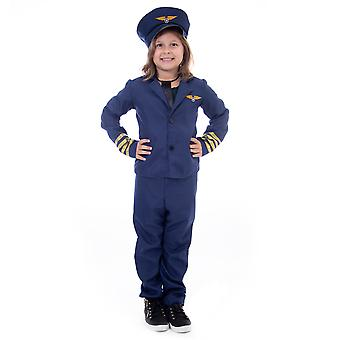 Airline Pilot Halloween Costume - Kids Unisex, Medium