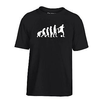 T-shirt bambino nero dec0103 evoluzione calcio