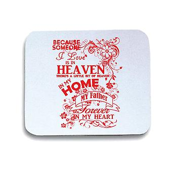 White pad mouse pad gen0591 father heaven in my home black