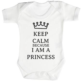 Calm I Am A Princess Baby Bodysuit / Babygrow