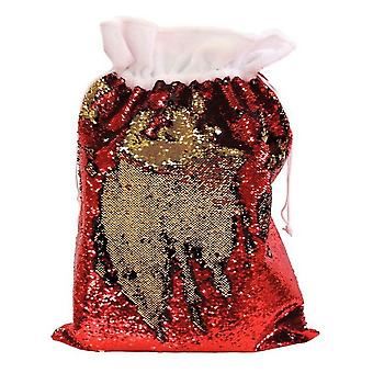 Christmas Shop Reversible Sequin Xmas Santa Sack Stocking