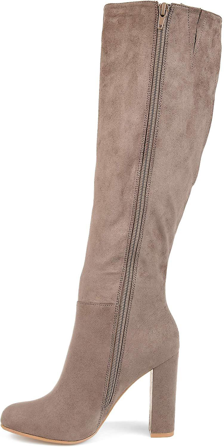 Brinley Co. Womens Regular Wide Calf Extra Knee-high Ruffle Boot
