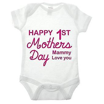 Vauva ' s 1st Äidit päivä babygrow