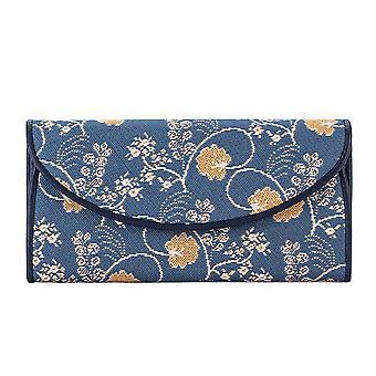 Jane austen blaue Geldbörse von signare tapestry/enve-aust