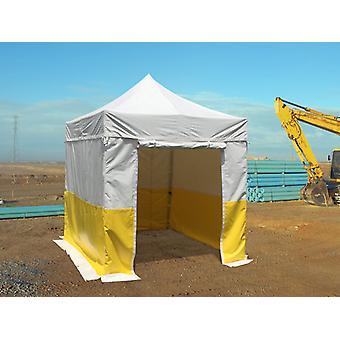 Gazebo pieghevole FleXtents® PRO 2,5x2,5m, PVC, Tenda da lavoro, Ritardante di fiamma, incluse 4 pareti laterali