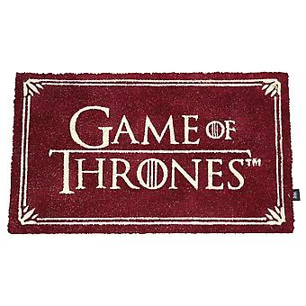 Game of Thrones doormat logo bordeaux, printed, made of coconut fiber.