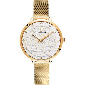 Näyttää Pierre Lannier 046G 508 - mesh teräksen nainen gold Milanese watch