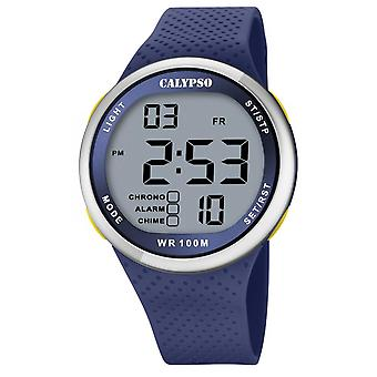 Montre Calypso K5785-3 - COLOR SPLASH Digitale R�sine Bleu