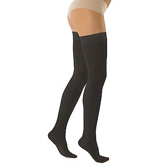 Solidea Marilyn Therapeutic Compression Thigh Highs CCL2 Plus Linje [Style 339B8] Nero (Black) XL