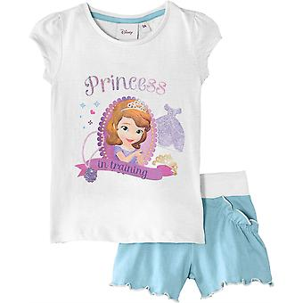 Děvčata Disney princezna Sofie První 2 dílka s krátkým rukávem na tričko & šortky