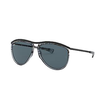 Ray-Ban Olympian Aviator RB2219 1286R5 Gradient Havana Grey/Blue Sunglasses