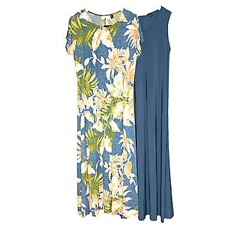 Attitudes by Renee Dress Como Jersey Set of 2 Maxi Blue A347401