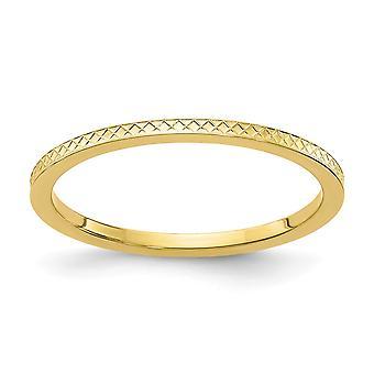 10ky 1,2 mm Criss Kreuz Muster stapelbare Band Ring Schmuck Geschenke für Frauen - Ring Größe: 4 bis 10