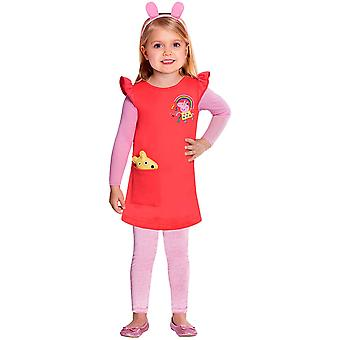 Peppa Wutz Costume Peppa Costume 5 pièces Kids Girl Peppa Robe