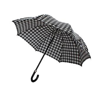 Dolce & Gabbana Black White Check Print Umbrella