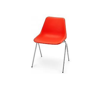 Hille kirkas oranssi Robin päivä Poly puolella muovinen tuoli