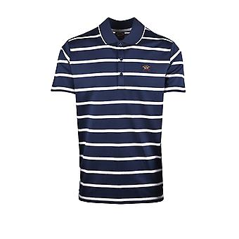 Paul & Shark Paul And Shark Polo Shirt Navy Grey Stripe
