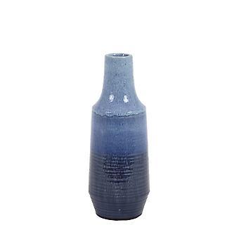 Light & Living Vase Deco 15x39.5 Frasca Ceramics Dark Blue And Light Blue