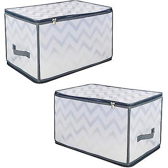Benross Anika 2 Pack Zipped Storage Boxes