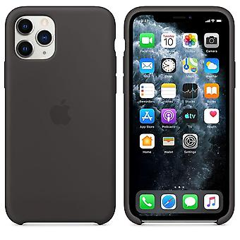 Original emballage MWYN2ZM/A Apple Silicone Microfiber Cover Case til iPhone 11 Pro - Sort