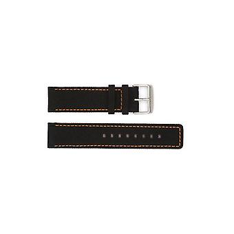 Authentic hugo boss watch strap black/orange stitch sail cloth hugo 22mm hb1091292250