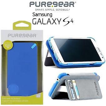 PureGear kreditkort Folio case för Samsung Galaxy S4 - Blå