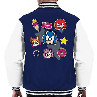 Sonic The Hedgehog Speed Cute Patches Men's Varsity Jacket