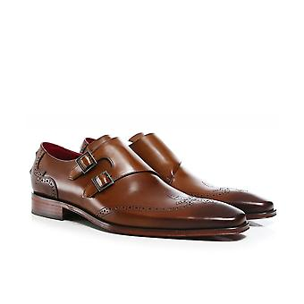 Jeffery-West Leather Double Monk Scarface Shoes