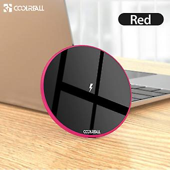 Coolreall 15W Qi Universal Wireless Charger Wireless Charging Pad Red