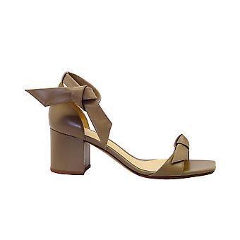 Alexandre Birman Claritasquareblock Femmes-apos;s Sandales en cuir brun