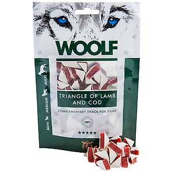 Woolf Lamb and Cod Triangles (Dogs , Treats , Natural Treats)