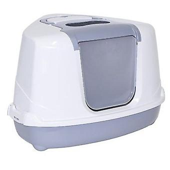 Moderna Gatera Flip Grey Cat Corner (Cats , Grooming & Wellbeing , Covered Litter Trays)