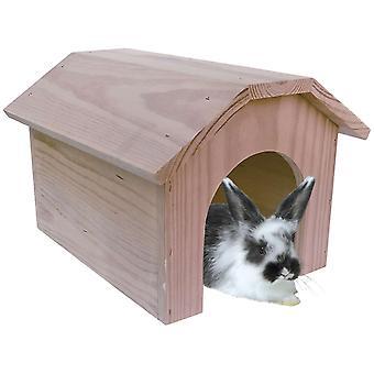 Деревянный дом ICA кролик (небольшие домашние животные, аксессуары Кейдж, Мезонеты et туннели)