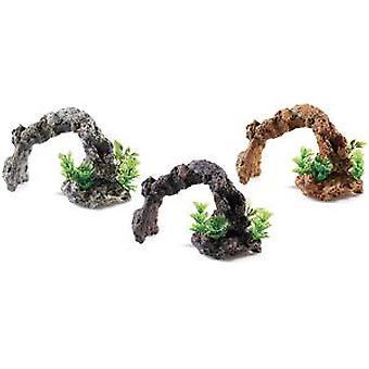 Classic For Pets Rocky Arch / Plants  3pcs (Fish , Decoration , Rocks & Caves)