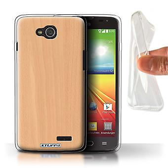 STUFF4 Gel TPU Case/Cover for LG L90/D405/Beech/Wood Grain Effect/Pattern